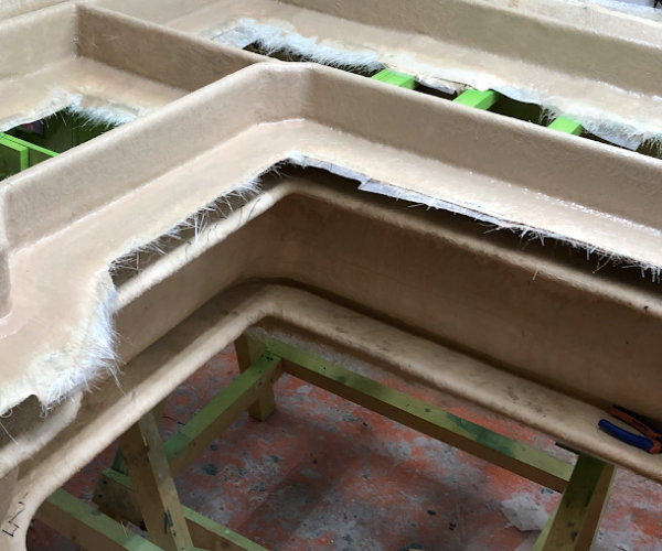 L-Shaped Seat 7 Piece Mould for a VW T2 Campervan