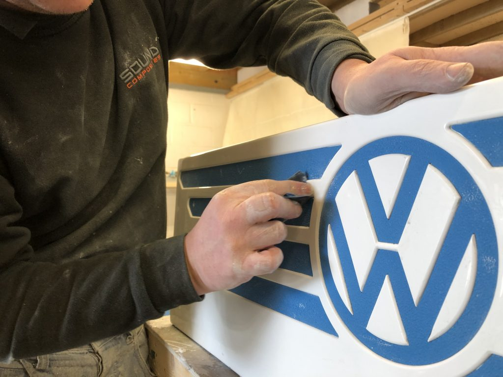 Finishing Touches on our VW T2 Rear Storage Box