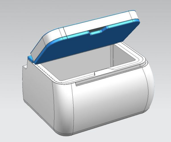 VW Campervan Buddy Seat and Coolbox Open