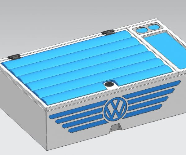 VW Campervan Rear Storage Box Closed