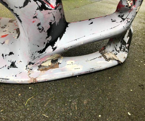 Mazda MX-5 cracked bumper prior to repair