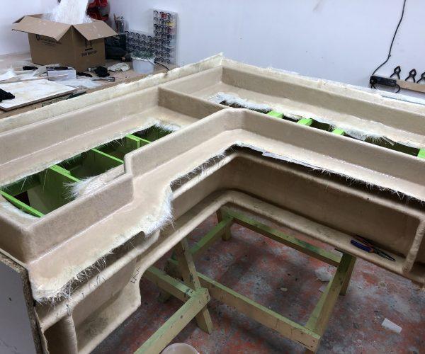 L- Shaped seat mould making