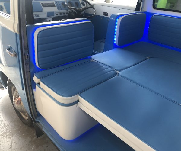 Removable Seat backrests in position