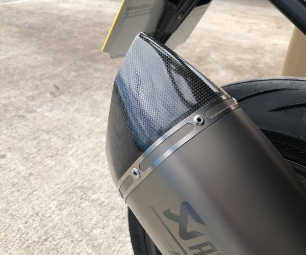 Carbon Fibre exhaust tip repair