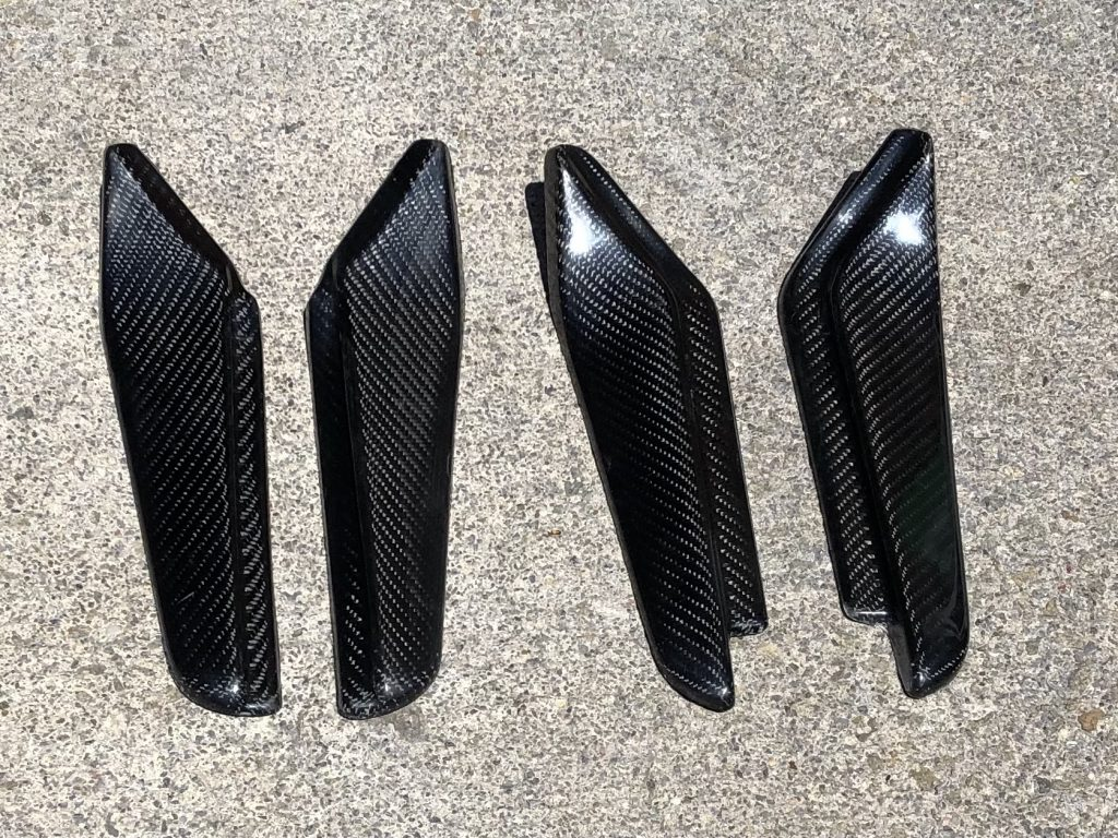 Carbon Fibre Mud spats