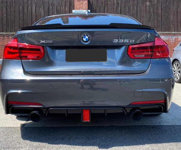 BMW 3 Series rear diffuser with brake light